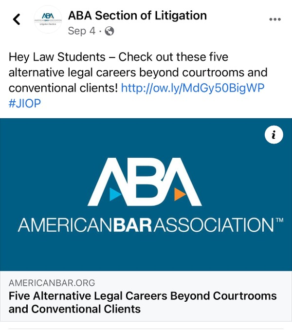 SUN, INC. Featured in ABA JIOP Article As seen with the ABA Section of Litigation on Facebook